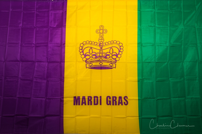 Boudin Ball Mardi Gras flag